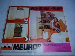 AA3-5 LC138  Pub Mobilier Meubles Meurop Chambres à Coucher Fauteuils 1972 - Reclame