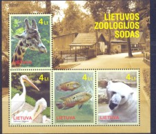2011. Lithuania, Zoo, S/s, Mnt/**