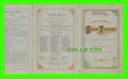 PROGRAMMES - ANNUAL FESTIVAL OF THE WORCESTER COUNTY MUSICAL ASSOCIATION IN 1880 - 6 SIDES - - Programmes