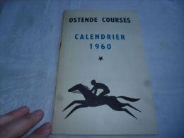 CB7 LC138 Calendrier Courses 1960 Ostende Courses - équitation Chevaux Pub Studebaker Lark - Equitation