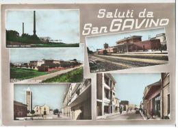 SAN GAVINO ( CAGLIARI ) SALUTI - ACQUERELLATA - STAZIONE FERROVIARIA - 1960s - Cagliari