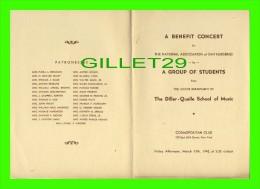PROGRAMMES - THE DILLER-QUAILE SCHOOL OF MUSIC 1942 - COSMOPOLITAN CLUB, NEW YORK - Programmes