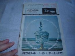 CB7 LC138  Brochure Eur Ostend News 1972 Pub Sabena Chrysler 160 - Dépliants Touristiques