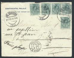 ESPAGNE - Enveloppe  Pour Paris Et Redirigée En 1915 - A Voir - Lot P13950 - Cartas