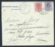 ESPAGNE - Enveloppe Du Continental Palace ( Retaillée ) Pour La France En 1915 - A Voir - Lot P13952 - Cartas