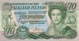 Fakland Islands 10 Pounds 1986 Pick 14a UNC - Falkland