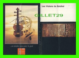 """PROGRAMMES - THÉÂTRE MAISONNEUVE, PLACE DES ARTS, MONTRÉAL, 1974 - """"LES VIOLONS DU BOLSHOI"""" - - Programmes"""