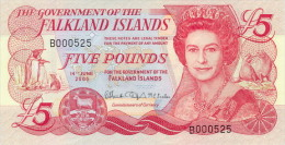 Fakland Islands 5 Pounds 2005 Pick 17 UNC - Falkland