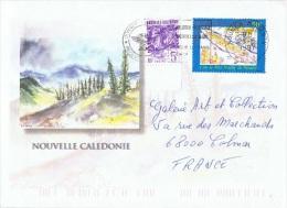 L-COL13 - NOUVELLE CALEDONIE N° 655 + PA 327 Sur Lettre - Luftpost