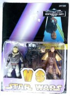 RARE CURIOSITE BLISTER FIGURINE STAR WARS VS PIRATE 2 Personnages (3bis) - Power Of The Force