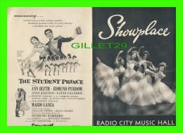 PROGRAMMES - PROGRAM - RADIO CITY MUSIC HALL, NY 1954 - SHOWPLACE - WILLIAM HOLDEN, JUNE ALLYSON - - Programmes