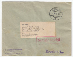 Austria Letter Cover Travelled 1946 Postage Paid Bb151208 - 1945-60 Lettres