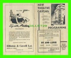 "PROGRAMMES - PROGRAM - NEW THEATRE OXFORD, ENGLAND  ""THE APOLLO"" - JACK HYLTON PRESENTS ""BY AND LARGE"" 1944 - - Programmes"