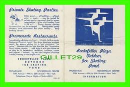 PROGRAMMES - PROGRAM - ROCKEFELLER PLAZA OUTDOOR ICE SKATING POND - 1959 - - Programmes