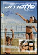 ITALIA - DEPLIANT ARNETTE SUNGLASSES - BEACH VOLLEY - AUTOGRAPH DANIELA GATTELLI - Sport