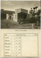 CARTOLINA DOPPIA LA CASA DEL MUTILATO TRIPOLI ANNO 1936 CON CALENDARIO MESE DI AGOSTO - Cartoline