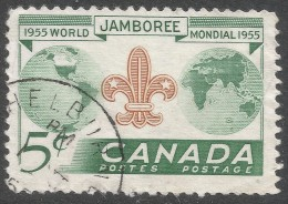 Canada. 1955 Eighth World Scout Jamobree, Niagra-on-the-Lake. 5c Used. SG 462 - 1952-.... Reign Of Elizabeth II