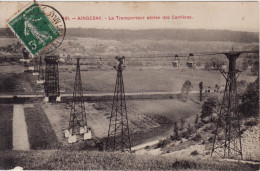 AINGERAY -  Carrière  SOLVAY Et Cie - Le Transporteur Aérien Des Carrières  - - Other Municipalities