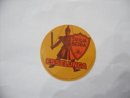 ADESIVO STICKERS  VINTAGE ESSELUNGA SICILIA BEDDA - Edizione Italiana