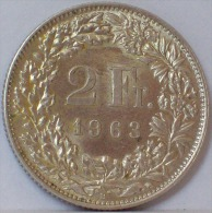 SVIZZERA 2 FRANCO 1963 - ARGENTO - Svizzera