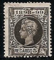 1898-ED. 240 ALFONSO XIII IMPUESTO DE GUERRA 5 CTS. NEGRO - USADO - 1889-1931 Royaume: Alphonse XIII