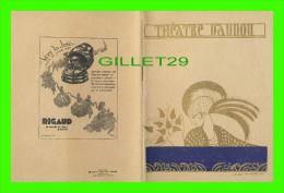 "PROGRAMMES - PROGRAM - THÉÂTRE DAUNOU, PARIS - ""ARTHUR"" SAISON 1929-1930 - - Programmes"