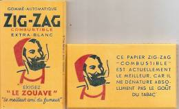 "BLOC PAPIER A CIGARETTES ""LE ZOUAVE"" ZIG ZAG NEUF COMPLET  SCAN RECTO VERSO - Altri"