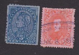 Colombia, Scott #130, 133, Used, Simon Bolivar, Gen Antonio Jose De Sucre Y Aicala, Issued 1886-87 - Colombia