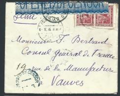 EGYPTE - Enveloppe  Pour La France En 1916 Avec Censure Anglaise - Voir Scans - Lot P13975 - Égypte