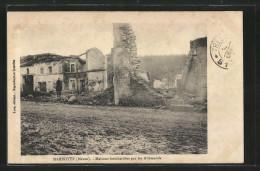 CPA Marbotte, Maisons Bombardées Par Les Allemands - Francia