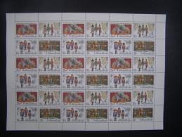 "RUSSIA 1992 MNH (**)YVERT 5967-70The Russian Ballet. ""The Nutcracker"". Sheets (6x6).Le Ballet Russe. ""Casse-noisette""."