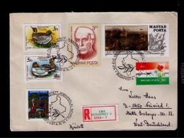 Jawaharlal Nehru INDIA Celébrités Canards Birds Ducks Animal Faune Animaux Cover 19!! Hungary Sp3639 - Famous People