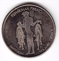 Santorini Greece Fisherman Fresco Collectors Coin - Tokens & Medals