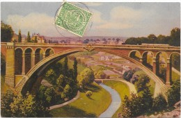 LUXEMBOURG  (cpa- Luxembourg)    Adolbrücke  - Pont Adolphe - Cartes Postales