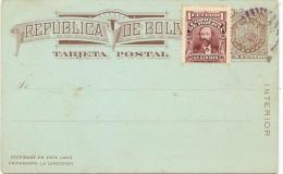 LPF5/HK- BOLIVIE EP CP AVEC REPIQUAGE AU VERSO - Bolivie