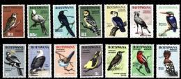 (003) Botswana  1967 Birds Definitives / Serie Courante Oiseaux / Vögel / Vogels  ** / Mnh  Michel 19-32 - Botswana (1966-...)