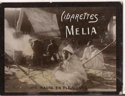 CHROMO CIGARETTES MELIA CAFE MAURE EN PLEIN VENT - Melia