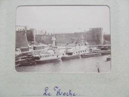 """PHOTO DE BREST ( 29 BRETAGNE ) Cuirassé """" Le Hoche """" 1898/1902 - Lieux"""