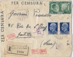 LPF5/GB  ITALIE LETTRE RECOMMANDÉE COLFELICE / GENTILLY 14/8/1941 - 1900-44 Victor Emmanuel III