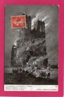 51 MARNE L'Incendie De La Cathédrale De Reims, Guerre 1914-18, (Edition Patriotique) - Militari