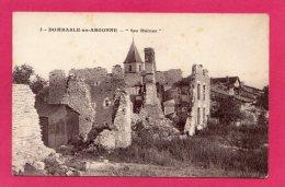55 MEUSE DOMBASLE-EN-ARGONNE SES RUINES, GUERRE 1914-18, (LELAURAIN) - War 1914-18