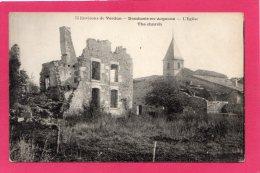 55 MEUSE DOMBASLE-EN-ARGONNE LES RUINES, L'EGLISE,  GUERRE 1914-18, (LELAURAIN) - Guerre 1914-18