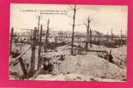 51 MARNE REIMS LA POMPELLE, Tranchées Dans Le Bois, Guerre 1914-18, (Cuisinier, Rennes) - Guerra 1914-18