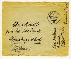Feldpost 34008 Lettera Per MIlano 6.1.1945 Con Bolli Di Franchigia Tedeschi - Marcofilía