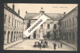 Cachet Service Militaire Des Chemins De Fer - Commission De Gare De Chagny - Le Commissaire Militaireb Sur CPA De Chagny - Marcophilie (Lettres)