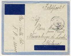 Feldpost. Lettera Per Massalengo Di Lodi Su Busta Ala Littoria 26.2.1945. Timbro Tedesco - Marcofilía
