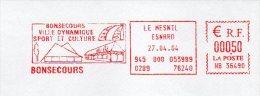EMA Mairie Seine Maritime Bonsecours Ville Dynamique Sport Et Culture - Postmark Collection (Covers)