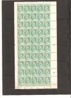 FRANCE   FEUILLE DE 100 TIMBRES PREOBLITERE N°98  NEUF **MNH  DE 1945 VARIETE PETIT T O BRISE E CROCHET - Feuilles Complètes