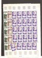 FRANCE FRAGMENTS  DE FEUILLE  DE 25 TIMBRES N° 1667/70  NEUF **MNH DE 1971 - Feuilles Complètes