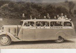 CARTE PHOTO SLA LOURDES BEL AUTOCAR - Lourdes
